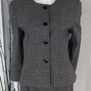Vintage Christian Dior Women's Black Skirt Suit 10